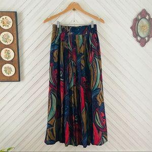 Vtg Saks Fifth Avenue Maxi Skirt